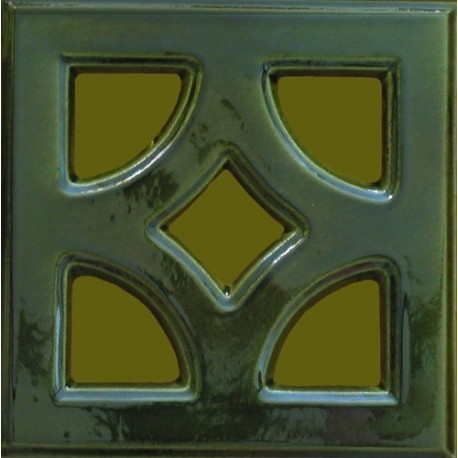Kafel ażur GŁADKI Z FAZĄ E - 005 220 x 220 x 50 mm