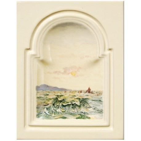 Kafel GREKO środkowy ręcznie malowany Nr artykułu: 160/M 06 Wymiary: 28 x 22