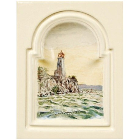 Kafel GREKO środkowy ręcznie malowany Nr artykułu: 160/M 07 Wymiary: 28 x 22