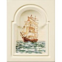 Kafel GREKO środkowy ręcznie malowany Nr artykułu: 160/M 08 Wymiary: 28 x 22