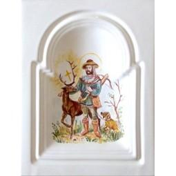 Kafel GREKO środkowy ręcznie malowany Nr artykułu: 160/M 09 Wymiary: 28 x 22