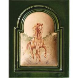 Kafel GREKO środkowy ręcznie malowany Nr artykułu: 160/M 10 Wymiary: 28 x 22