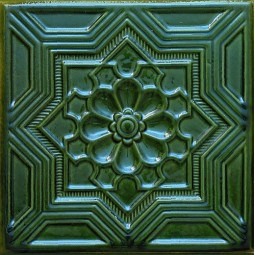 C Kafel GWIAZDA zielony A-003 220 x220 x 50 mm