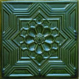 Kafel GWIAZDA zielony A-003 220 x220 x 50 mm