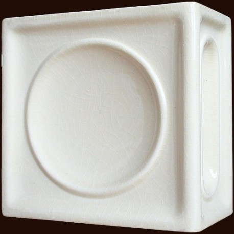 Kafel TALERZ DUŻY narożny biały B-004 220 x220 x 110 mm