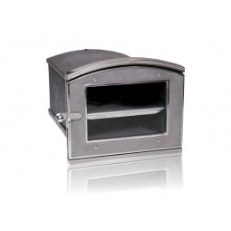 Piekarnik żeliwny niklowany z szybką nr.0045 szer.360 wys.310 głęb.500 mm