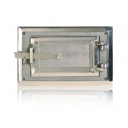 Drzwiczki popielnikowe niklowane nr.0273 szer.280 wys. 180 mm