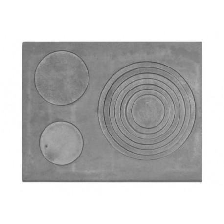 Płyta żeliwna duża trzy otworowa 680 mm x 520 mm