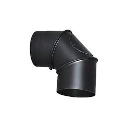 Kolano regulowane stalowe czarne 90* 150 mm