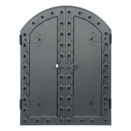 Drzwi do wędzarni DIANA 60x80cm półokrągłe