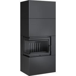 SIMPLE 8 BS lewy z zabudową BOX stalowy - czarny