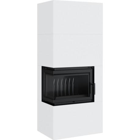 SIMPLE 8 BS lewy z zabudową BOX stalowy - biały
