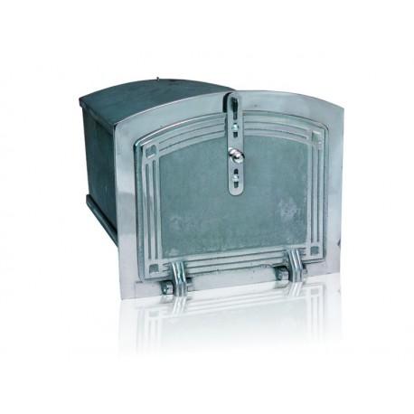 Piekarnik żeliwny niklowany nr.56465 szer.360 wys.310 głęb.500 mm