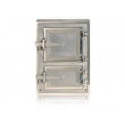 Drzwiczki kuchenne żeliwne niklowane nr. 0271 szer.290 wys. 380 mm
