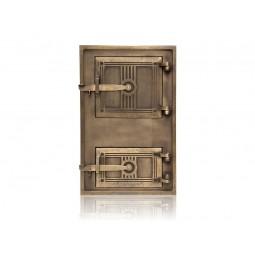 Drzwiczki kuchenne żeliwne patynowane nr. 9986 szer.290 wys. 400 mm