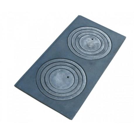 Płyta żeliwna dwu otworowa 680 mm x 320 mm